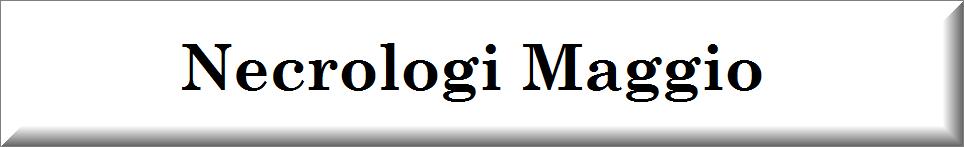 annunci funebri Maggio 2021